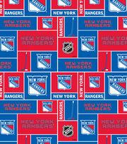 New York Rangers  NHL Block Cotton Fabric, , hi-res