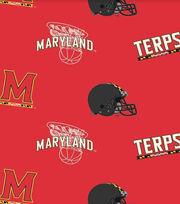 University of Maryland NCAA  Fleece Fabric, , hi-res