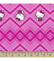 Sanrio Hello Kitty Chevron Stripe Cotton Fabric, , hi-res