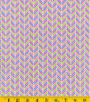 Made In America Cotton Fabric-Chevron Purple, , hi-res