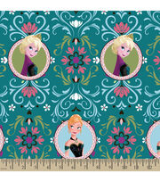 Disney® Frozen Anna and Elsa Framed Fleece Fabric, , hi-res