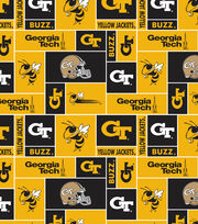 Georgia Tech NCAA  Fleece Fabric, , hi-res