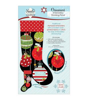 Christmas Stocking Panel For Embroidery-Christmas Ball