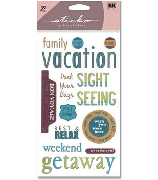 Sticko Glitter Classic Stickers-Vacation