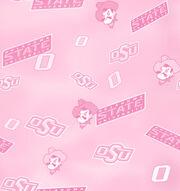 Oklahoma State University NCAA Pink Cotton Fabric, , hi-res