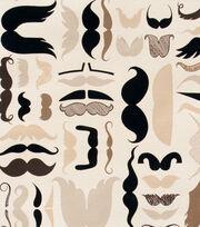 Alexander Henry Cotton Fabric-A Must Stache Tea, , hi-res