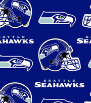 Seattle Seahawks NFL Fleece Fabric by Fabric Traditions, , hi-res