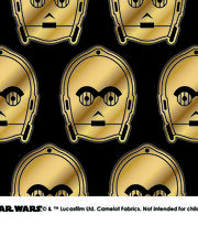 Star Wars™ Metallic C3PO Cotton Fabric, , hi-res