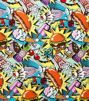 Alexander Henry Flannel Fabric-Midnight Snack, , hi-res