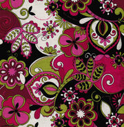 Keepsake Calico™ Cotton Fabric-Jacqueline Floral Pink Grn Blk, , hi-res