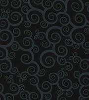 Keepsake Calico™ Cotton Fabric-Scroll On Black , , hi-res
