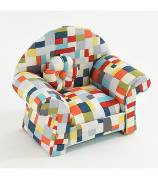 Fw21 Pincushion Chair Multi Squares