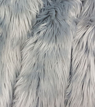Fashion Faux Fur Fabric-Grey Husky