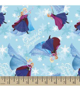 Disney Frozen Sisters Skating Satin Fabric
