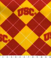 University of Southern California NCAA Argyle Fleece Fabric, , hi-res