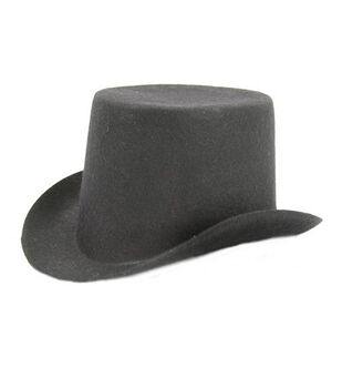 Stiffened Felt Top Hat 5-1/2''-Black