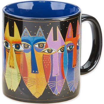 Laurel Burch Tribal Cat Mug