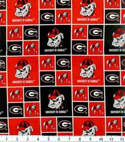 University of Georgia NCAA Block Cotton Fabric, , hi-res