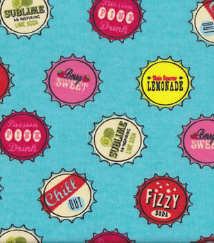 Snuggle Flannel Fabric-Bottle Caps