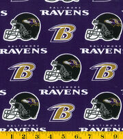 Baltimore Ravens NFL Purple Cotton by Fabric Traditions, , hi-res