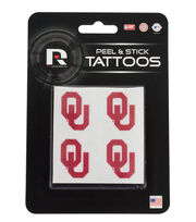 University of Oklahoma NCAA Peel & Stick Tattoos, , hi-res