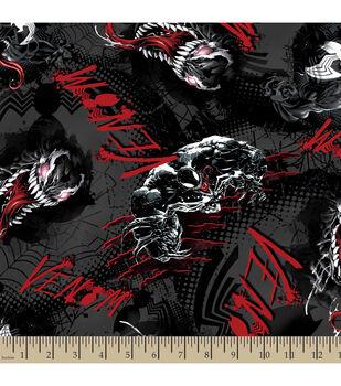 Marvel Comics Villians Venom Toss Cotton Fabric