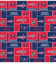 Washington Capitals NHL Block Fleece Fabric, , hi-res