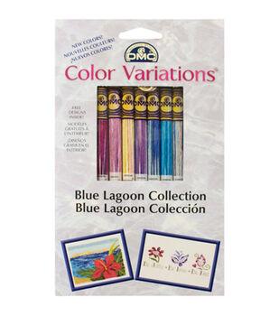 DMC Color Variations Floss Pack- Blue Lagoon 8/Pkg