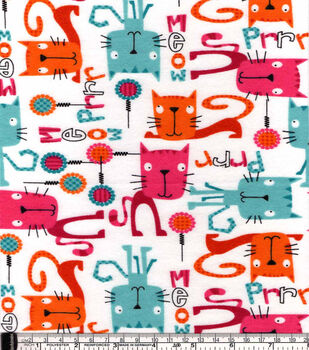Snuggle Flannel Fabric-Prrr Meow Kitties