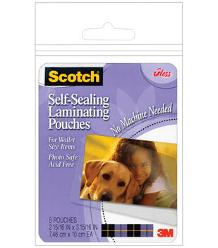 Scotch Self-Sealing Laminating Pouches 5/Pkg