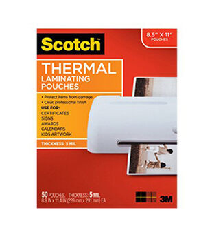 Scotch Thermal Laminating Pouches 5 Mil 50 Pack