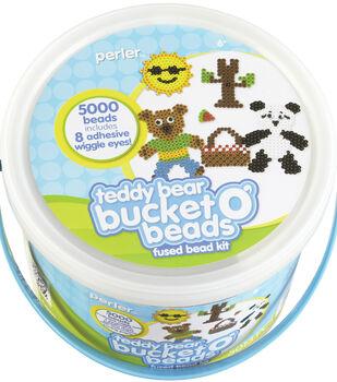 Perler Fun Fusion Fuse Bead Activity Bucket Teddy Bear