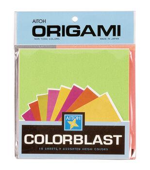 "Origami Paper 5.875""X5.875"" 18/Pkg-Colorblast Neon Colors"