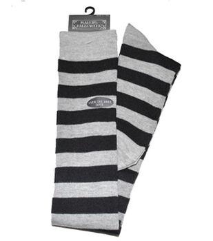 Maker's Halloween Over the Knee Socks-Heather Gray