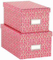 Anna Griffin Pink Solid Set Of Nesting Boxes, , hi-res