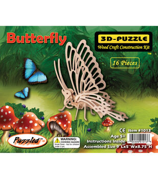 Puzzled Inc 3D-Puzzle Jigsaw Butterfly