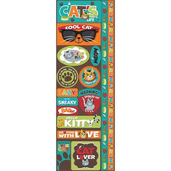 Reminisce Signature Series Cardstock Combo Sticker Cat