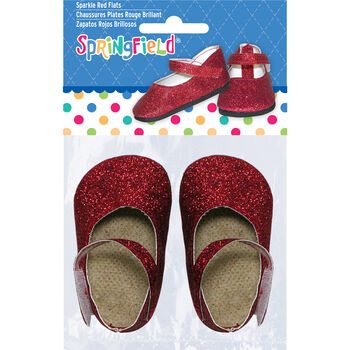 Springfield Boutique Sparkle Flats Red