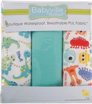 Babyville Dinos & Monsters Waterproof Diaper Fabric