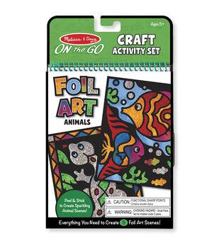 """Melissa & Doug On The Go Craft Activity Set 6""""X10"""" 5 Pages-Foil Art"""