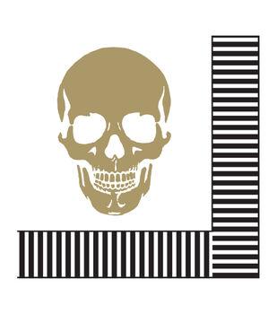 Maker's Halloween 20ct Lunch Paper Napkins-Gold Skulls