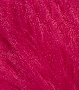 Fashion Faux Fur Fabric-Magenta