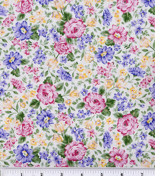 Keepsake Calico™ Cotton Fabric-French Bouquet Pink Lavender