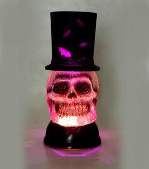 Maker's Halloween LED Table Decor-Glitter Skull