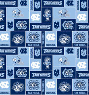 University of North Carolina NCAA Block Fleece Fabric, , hi-res