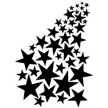 Joggles Stencil Shooting Stars