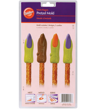 Wilton® Pretzel Mold-5 Cavity Witch Fingers