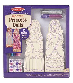 Melissa & Doug Decorate-Your-Own Wooden Dolls 2/Pkg-Princess