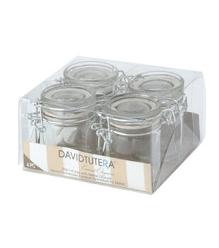 Glass Flip Lid Jars w/Metal Closure, 4pcs.