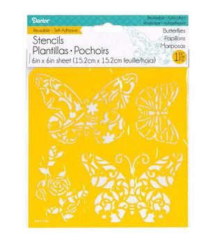 Darice® Reusable Self Adhesive Stencil-Butterflies